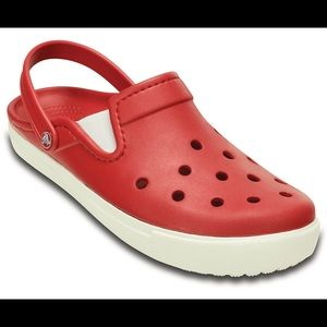 Crocs Citilane Clogs, Pepper/White, Relaxed Fit S7
